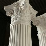 colonne in gesso