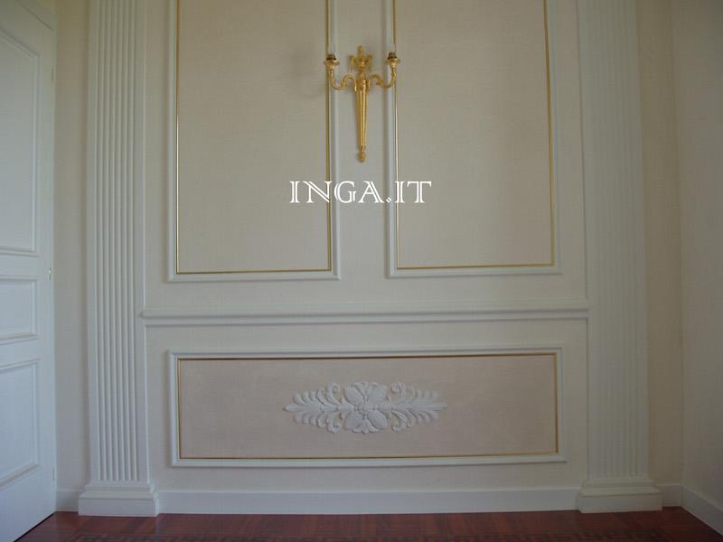 Cornici in gesso per riquadri fregi decorativi inga - Decori in gesso per interni ...