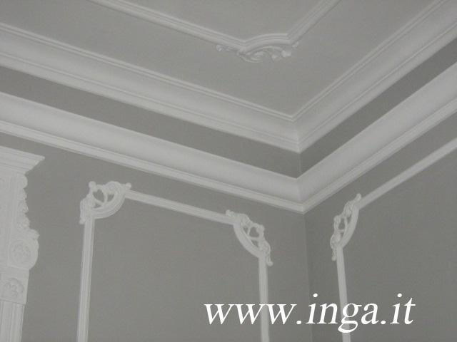 Cornici in gesso riquadri a parete riquadri a soffitto inga gessi - Decorazioni gesso ...