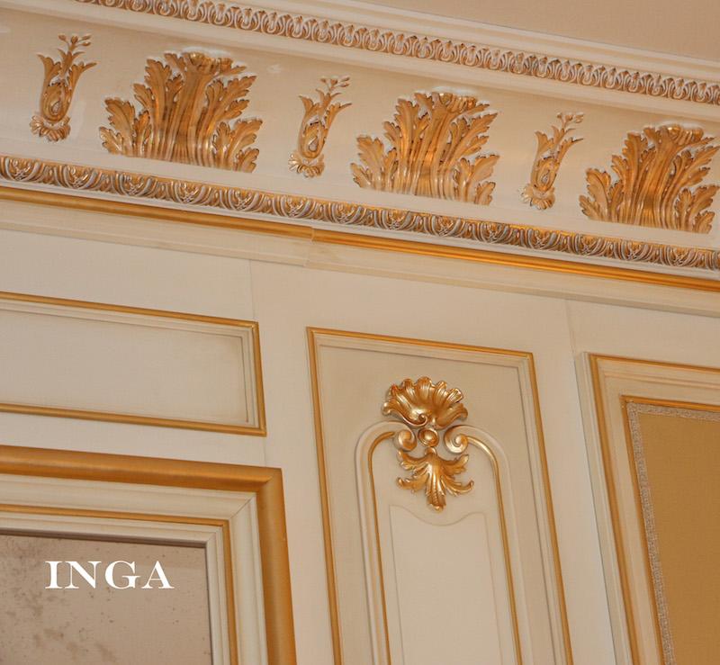 Cornici in gesso decorazioni a parete in gesso inga for Decorazioni a parete