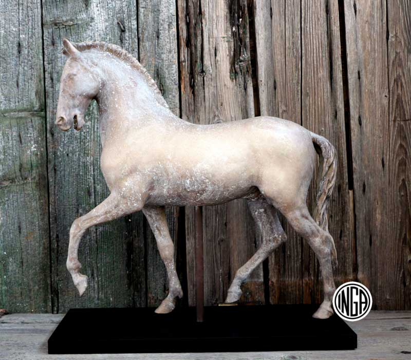 Bozzetto Cavallo in gesso