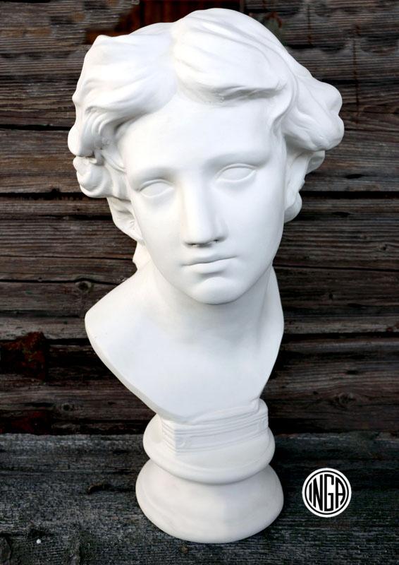 Busto Arcangelo Gabriele in gesso