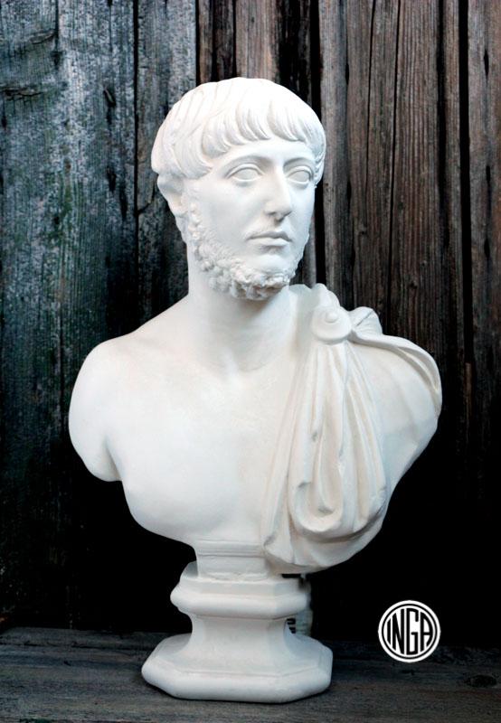 Busto Console Romano in gesso