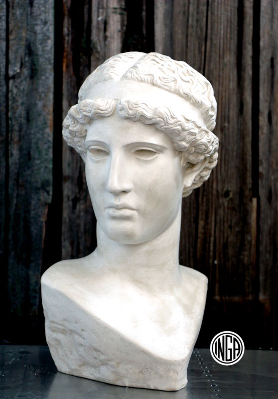 Busto Athena Lemnia in gesso