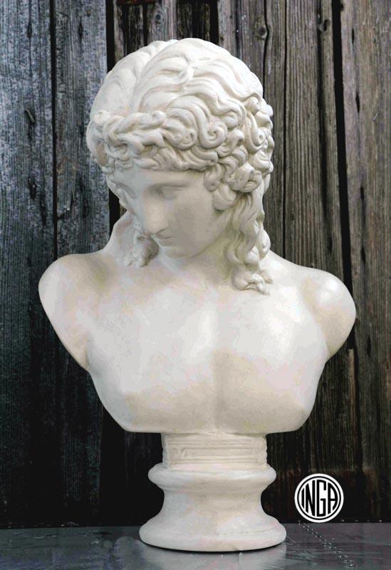 Busto Eros Centocelle in gesso