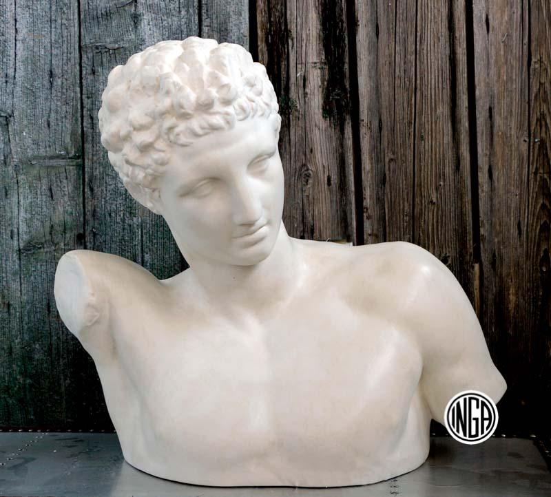 Busto Hermes di Prassitele in gesso