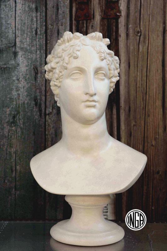 Busto Marialuigia Imperatrice in gesso