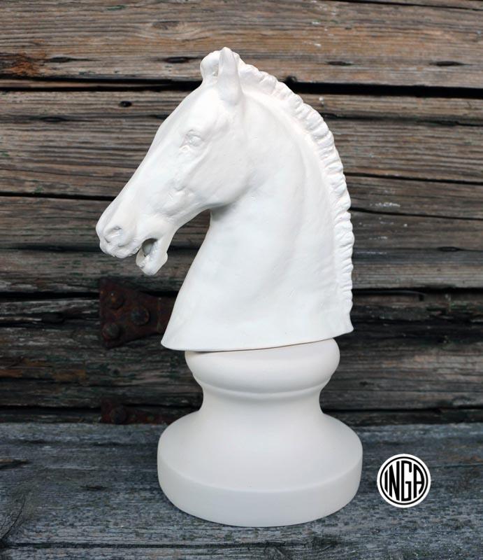 Cavallo con Base in gesso