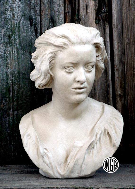 Busto Costanza Bonarelli in gesso