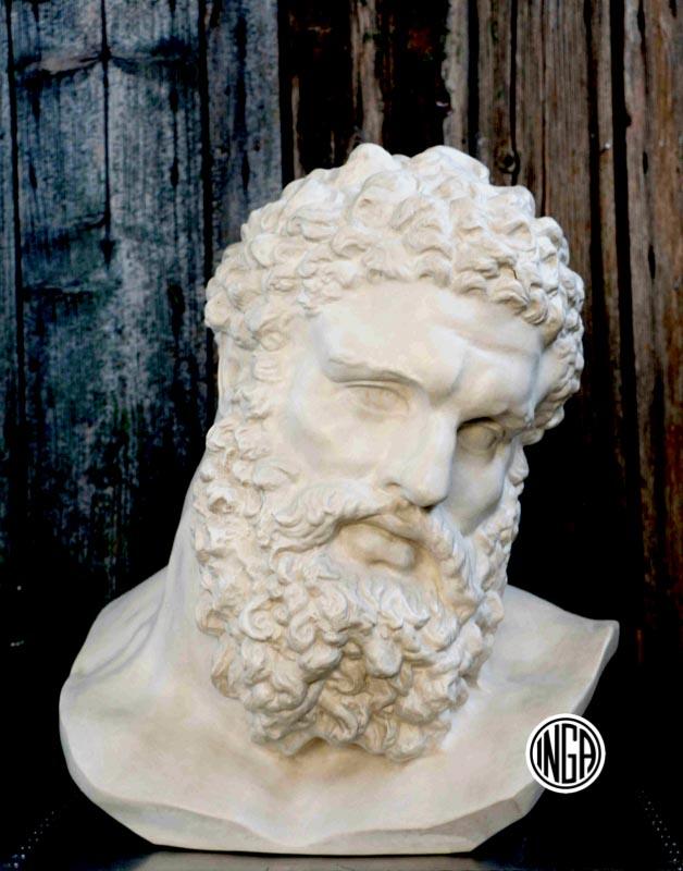 Testa Ercole Farnese in gesso
