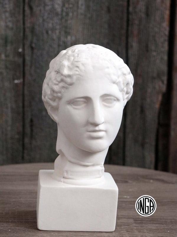Testina Classica Dea Afrodite in gesso